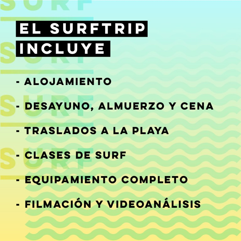 SURFTRIP - 8 al 12 de abril